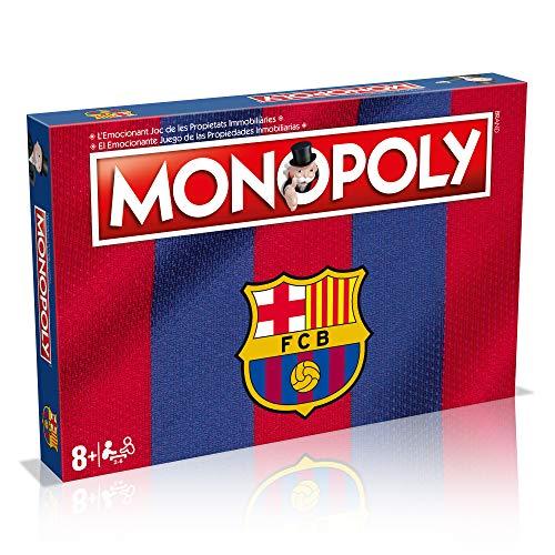 Clásico juego de estrategia Monopoly inspirado en tu equipo de fútbol favorito, el F.C. Barcelona. ¡Conviértete en el nuevo mánager del Barça! En el interior de este Monopoly encontrarás el tablero de juego, 8 peones, 28 tarjetas de propiedad, 16 car...
