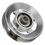 "Generic UK150527-015 <1&3135*1> ment Parts Universal 88mm Aluminum Bearing Pulley Wheel Cable Gym Fitness Equipment Parts Universal"" /></a> </div> <ul> <li>Material:aluminium alloy</li> <li>Outer diameter; 88mm</li> <li>Inside diameter: 11mm</li> <li>Thickness: 21 mm</li> <li>UK Free Fast Post</li> </ul> <p>Specification: <br />Material:aluminium alloy <br />Outer diameter; 88mm <br />Inside diameter: 11mm <br />Thickness: 21 mm <br />Groove depth: 11 mm <br />Groove width: 14 mm <br />Scope: Universal </p> <p>Package include <br />1 x Pulley wheel</p> <div style="