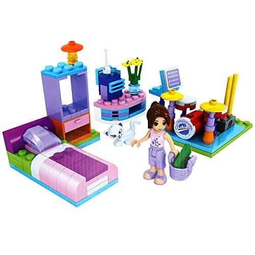 Mini Beauty Toy Set - GALOOK - DIY 108 Piezas Juguetes de Bloques de Construcción Habitación Familiar de Construcción Centro de Belleza de Regalo para Niñas