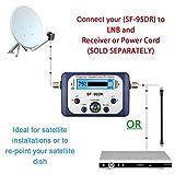 Satellite Finder, ELEGIANT LCD Display Screen Digital Satellite Signal Meter Measuring Device with Satellite Directv Dish with Compass, Buzzer LCD FTA Dish