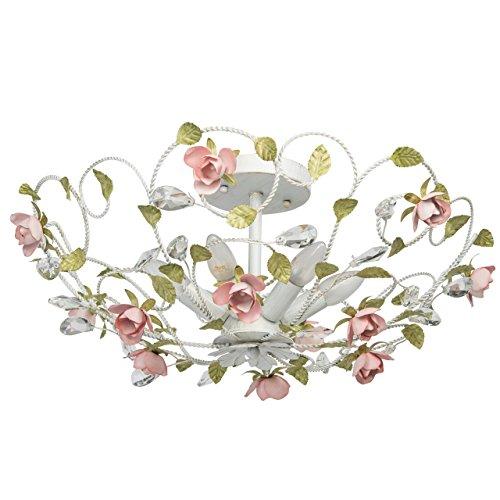 lampadario-da-soffitto-fiore-decorativo-gocce-cristalli-trasparente-dipinto-in-bianco-verde-e-rosso-