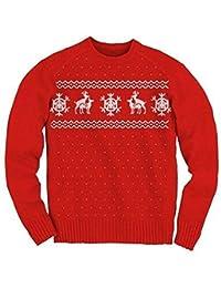 Ugly Christmas Sweater Humping Reindeer Rot Erwachsene Sweater