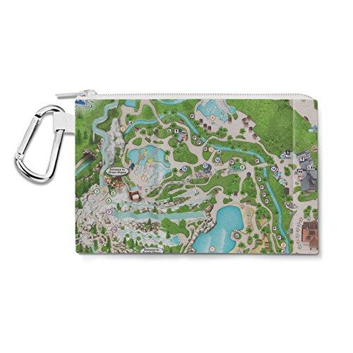 Blizzard Beach Map Canvas Zip Pouch - XL Canvas Pouch 12x9 inch Federmäppchen