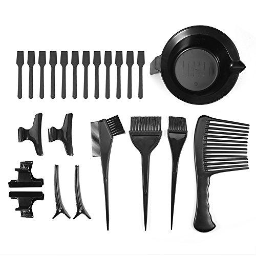 23 Pcs/Set Friseur Färbeset, Haar-Färbeset Rührschüssel Haarfärbemittel Kamm Pinsel Clips Friseursalon Zubehör