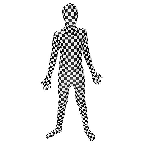 (Morphsuits Schwarz und Weiß kariert Kinder Kostüm–Größe Klein 7,6cm 2,5–7,6cm 6(94cm-107cm))