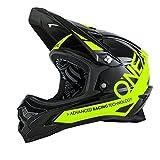 O'Neal Backflip RL2 Helm Bungarra Schwarz Neon Gelb Hi-Vis Fidlock DH FR MTB Downhill Fahrrad, 0500-20, Größe S (55 - 56 cm)