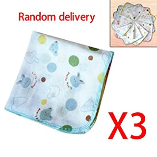 3/Set Baby Double Layer Gaze Color Edge Taschentuch Baumwolle Lovely Handtuch Weich Infant