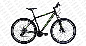 Suncross SURGE 29 Bicycle, 19.5 IN (Black Green,Red White)