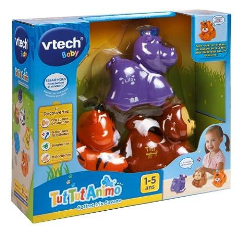 Vtech - 215325 - Figurine - Animal - Tut Tut Animo - Coffret Trio Jungle - Tigre + Singe + Hippo