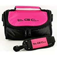 TGC ® Camera Case for Canon EOS 750D with Carry Handle (Hot Pink & Black)