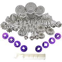 KurtzyTM Set da 42 Pezzi Cutter Stantuffo Decorazione Fondente Glassa- Fiori/Farfalle/Cuori
