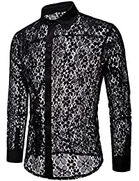 pizzo Nero di camicia Amazon it Uomo Abbigliamento tqFZnI61wx