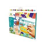 Kit Loisirs Créatifs Enfants - Gommettes autocollantes - Tableau à compléter - Thèmes colorés - Dès 3 ans - Sycomore - CRE44031