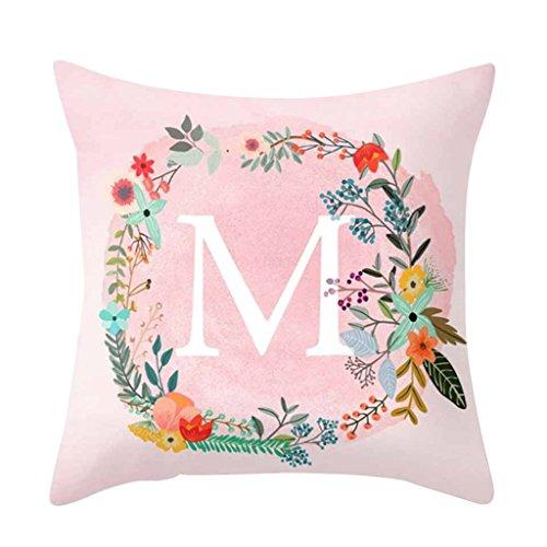 Verlike Pink mit Muster Überwurf Kissenbezug Sofa Bett Home-Dekor Kissenhülle, Polyester, rose, M