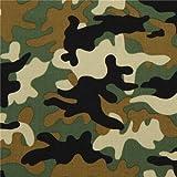 Stoff mit Flecktarn in Schwarz und Grün von Michael Miller