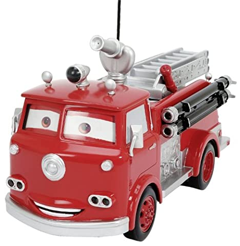 Dickie Spielzeug 203089549–RC Disney Cars Red Fire Engine 3Channel Radio Remote Control, 29cm, Red