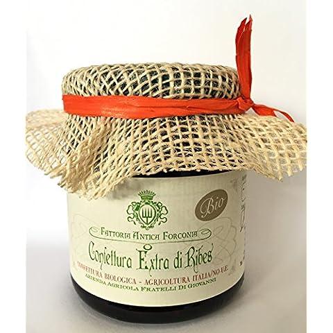 Confettura Extra di Ribes Biologica Bio con zucchero di Canna grezzo - Prodotto da Azienda Agricola in Abruzzo