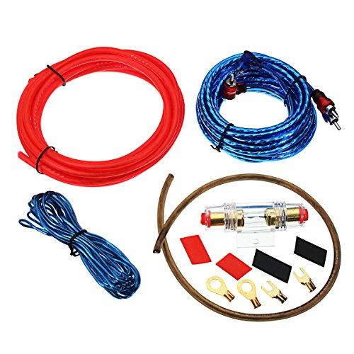Wooya 1500W 10Ga Auto Audio Subwoofer Verstärker Amp Verdrahtung Sicherung Halter Draht Kabel Kit (Auto-audio-subwoofer-draht)