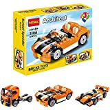 Babytintin Architect Series 3 In 1 Educational Racing Car Blocks Learning Bricks Toy For Kids (Sunset Speeder - 119 Pcs) (3108)
