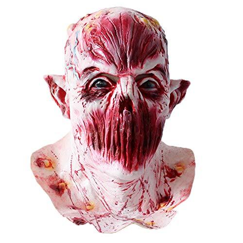 JackRuler Halloween Cosplay Höllenbestie Monster Dämon Latex Horror Maske - perfekt für Fasching, Karneval Halloween - Kostüm Erwachsene Unisex Einheitsgröße, Latexmaske Pferde Maske - Läuft Kostüm Pirat
