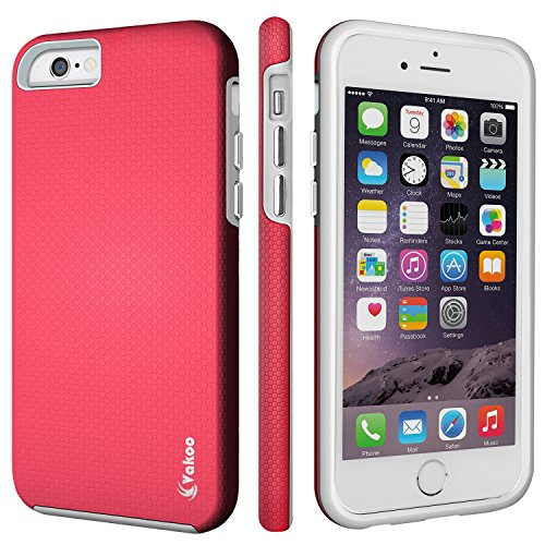 iPhone 6S Cover, Vakoo iPhone 6 Custodia - TPU [UltraSlim] Copertura Della Cassa Del Custodia Case Tacsa Protettiva Shell Cover per Apple iPhone 6/6S (Nero) Rosa