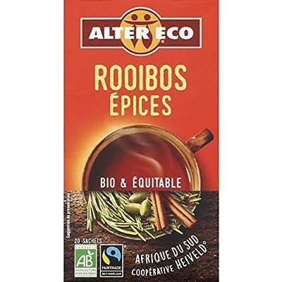 Alter Eco Infusion Rooibos épices bio La boîte de 20 sachets, soit 40g - Prix Unitaire - Livraison Gratuit Sous 3 Jours