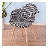 Stuhl Nordic Stoff Esszimmerstuhl Einfache Lässige Mode Kaffee Wohnzimmer Sessel Schuhbank wechseln (Farbe : B, größe : 47 * 64 * 81cm)