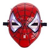 Boddban - Máscara de Spiderman con luces LED para niños Spiderman
