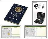 Safe 9650 Gold-Tester Münztester Prüfgerät Goldscreencard - Für Gold & Silber Münzen testen leicht gemacht komplett mit Zubehör - Software - Koffer - Ergebnisse in sekundenschnelle