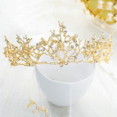 Simsly Vintage Hochzeit Krone und Tiaras Gold Libelle -