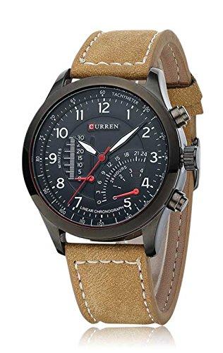 Curren Analogue Black Dial Men's Watch-Cwu8123Br