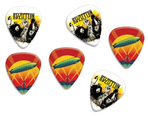 Led Zeppelin Loose Double Sided Guitar Plektrum Plektron Picks, Collection of 6 (Picks Guitar Led Zeppelin)