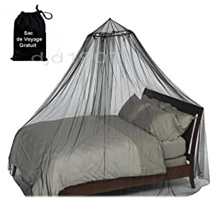 moustiquaire voile anti moustiques voile decoration noir avec sac de voyage gratuit. Black Bedroom Furniture Sets. Home Design Ideas