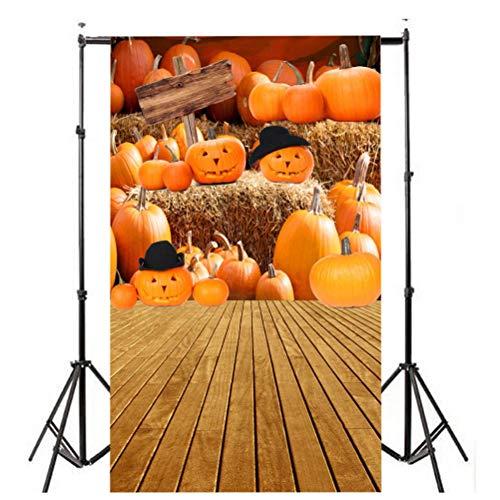 der Kulisse Fotografie Bildhintergrund Backdrops Hintergrund Foto Props für Studio Party Halloween Kulissen Kürbis Vinyl 3X5FT Laterne Hintergrund Fotografie Studio ()