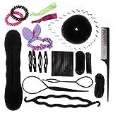HABI Haar Styling Werkzeug KIT Frisurenhilfe Füllstoff Haar Clip-Pads Haardreher Set Hair Style DIY Klipp Hersteller Braid Tool