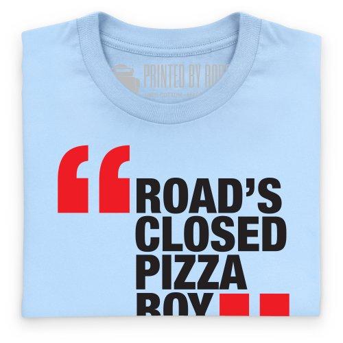 Road's Closed T-Shirt, Herren Himmelblau