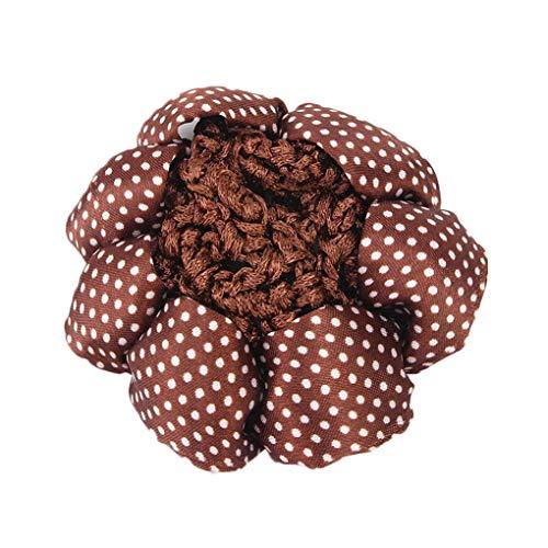 Fille Femmes Dot Motif Bun Couverture Snood cheveux Ballet Net Crochet Band cheveux Bureau Lady Couvre-chef