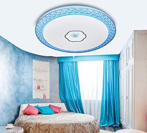 GBYZHMH Deckenleuchte $ Moderne LED-Patch Deckenleuchte 35 cm Schlafzimmer Balkon Studie dimmbar Runden 24 W Decken Kronleuchter (Farbe: Blau, Größe: 3 Farbe dimmen)