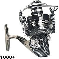 Alftek 13BB - Carrete de pesca de metal para pesca de carpas, rueda giratoria de 5,2:1, 1000
