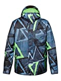 Quiksilver Herren Snowboard Jacke Mission Printed Insulated, Snowsooner Moroccan, XXL, EQYTJ00073