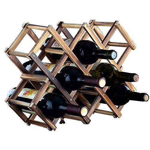 Weinregal|Regal Anzeigen|Dekoration|Bar|Wohnzimmer|Holzregal|Kann Gefaltet Werden,10bottlesofcolor