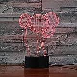 Yeehor Palloncino per luce notturna 3D LED 7 colori che cambiano USB Touch Desk Light da tavolo Luce notturna come decorazioni per feste domestiche Luci Miglior giocattolo regalo