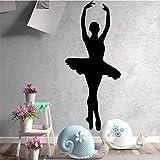 Ajcwhml Beauty Dancing Girls Adesivi da Parete in PVC Home Decor per Ragazze Camera Adesivi murali Balletto Carta da Parati Impermeabile Blu XL 43cm X 100cm