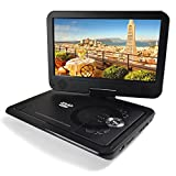 Portable Dvd Player Headrest In Car Dvd Players-10.1 inch Color TFT LED DVD with Remove Control Swivel screen and Rechargeable Battery Run For 2500mAh 5 hours, Can Read SD Card USB Hub MP5 MP4 RMVB AVI,MPEG