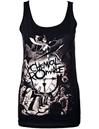 Official Skinny Vest Top My Chemical Romance Parade Clock All Sizes