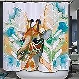 Young17 Wasserdichter 3D Digital Duschvorhang für Badezimmer Anti-Schimmel Badvorhang mit 12 Haken 180*200cm