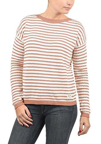 DESIRES Hilde Damen Winter Strickpullover Troyer Grobstrick Pullover, Größe:S, Farbe:Rose Dawn...