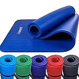 Scsports Gymnastik-/ Yoga-Matte, dick und rutschfest, mit Schultergurt, 190 cm x 80 cm x 1,5 cm, universeller Einsatz im Fitnessstudio oder zu Hause, dunkelblau