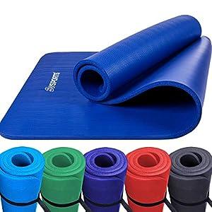 ScSPORTS Gymnastikmatte, Yoga-Matte mit Schultergurt, extra groß und dick, 190 cm x 100 cm x 1,5 cm