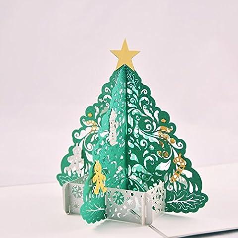 Árbol de Navidad rojo, Maravillas tarjeta, tarjeta de boda, GG02, viaje, 3d tarjeta de invitación, tarjeta de cupones, tarjeta de invitación, tarjeta para aniversario,, tarjeta de regalo, dinero tarjeta de regalo, cumpleaños, Navidad y